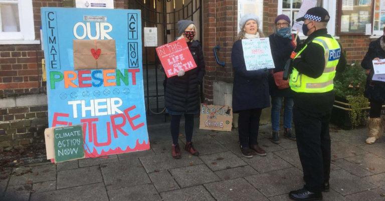 XR Grandparents Outside Berkhamsted Civic Centre